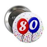 80th Birthday Button