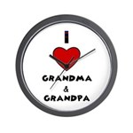 I LOVE GRANDMA AND GRANDPA Wall Clock
