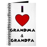 I LOVE GRANDMA AND GRANDPA Journal