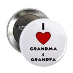I LOVE GRANDMA AND GRANDPA Button