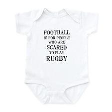 Rugby vs. Football 2 Infant Bodysuit
