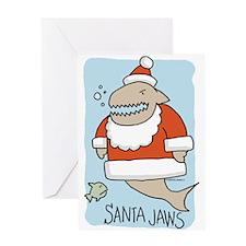 Santa Jaws Greeting Card
