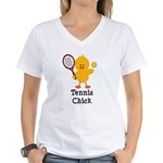 Tennis Chick Women's V-Neck T-Shirt
