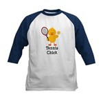 Tennis Chick Kids Baseball Jersey