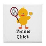 Tennis Chick Tile Coaster