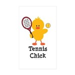 Tennis Chick Rectangle Sticker 50 pk)