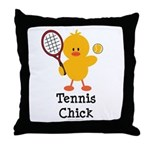Tennis Chick Throw Pillow