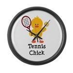 Tennis Chick Large Wall Clock