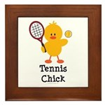 Tennis Chick Framed Tile