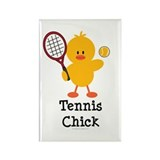 Tennis Chick Rectangle Magnet (10 pack)