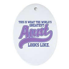 World's Greatest Aunt Oval Ornament