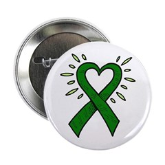 Donor Heart Ribbon Button