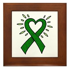 Donor Heart Ribbon Framed Tile