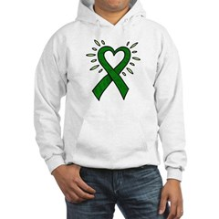 Donor Heart Ribbon Hooded Sweatshirt