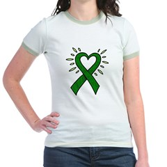 Donor Heart Ribbon Jr. Ringer T-Shirt