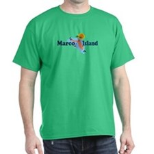 Marco Island FL - Map Design T-Shirt