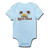 Marco Island FL - Sun and Palm Trees Design Infant