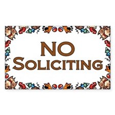 No Soliciting Dogs Rectangle Sticker 10 pk)