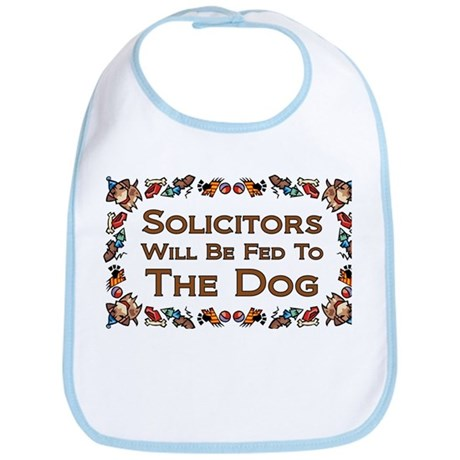 Solicitors Fed to Dog Bib