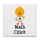 Math Chick Tile Coaster