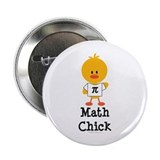 Math Chick 2.25&quot; Button