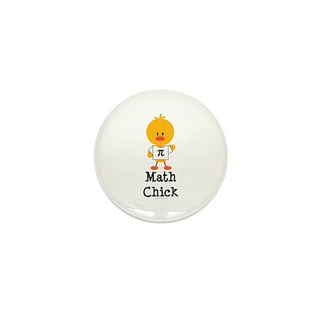 Math Chick Mini Button (100 pack)
