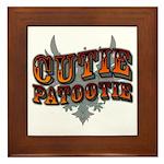 Cutie Patootie Framed Tile