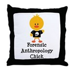 Forensic Anthropology Chick Throw Pillow