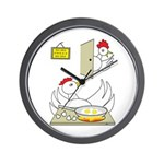 Chicken Family Wall Clock