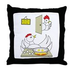 Chicken Family Throw Pillow