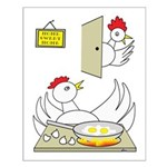Chicken Family Small Poster
