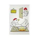 Chicken Family Rectangle Magnet (100 pack)