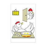 Chicken Family Mini Poster Print