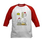 Chicken Family Kids Baseball Jersey