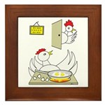 Chicken Family Framed Tile