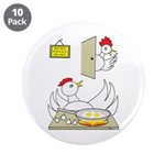"Chicken Family 3.5"" Button (10 pack)"