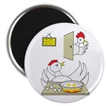 "Chicken Family 2.25"" Magnet (100 pack)"