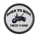 BORN TO RIDE Large Wall Clock