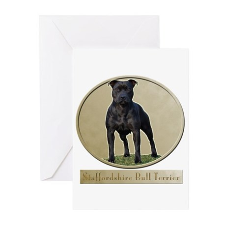 Staffordshire Bull Terrier Greeting Cards (Pk of 1