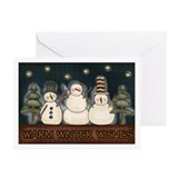 Warm Winter Wishes Snowmen Greeting Cards (Package