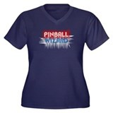 Pinball Wizard Women's Plus Size V-Neck Dark T-Shi