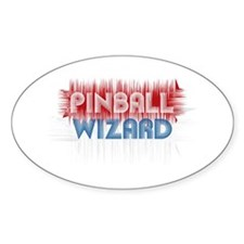Pinball Wizard Oval Decal