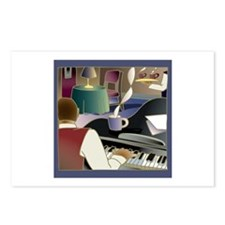 """Piano Player"" Postcards (Package of 8)"