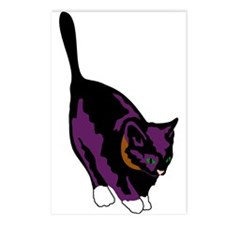 Gothic Black Cat Postcards (Package of 8)