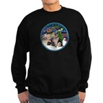 XmasMagic-GShep-2 Cats Sweatshirt (dark)