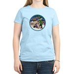 XmasMagic-GShep-2 Cats Women's Light T-Shirt