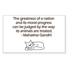 Gandhi Cat Quote Bumper Stickers