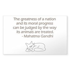 Gandhi Cat Quote Decal