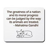 Gandhi Cat Quote Mousepad