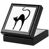 Retro Black Cat Keepsake Box
